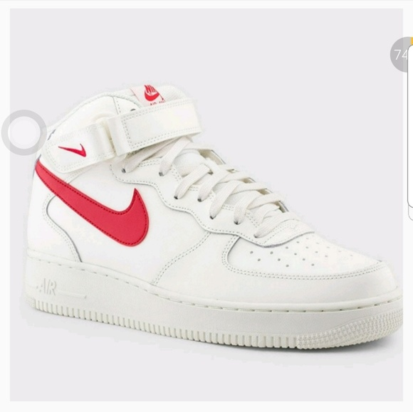 MEN'S AIR FORCE ONE MID (WHITE | RED).